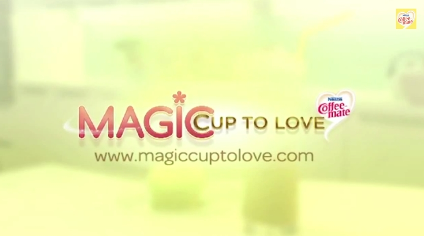 magic cup to love by coffee mate